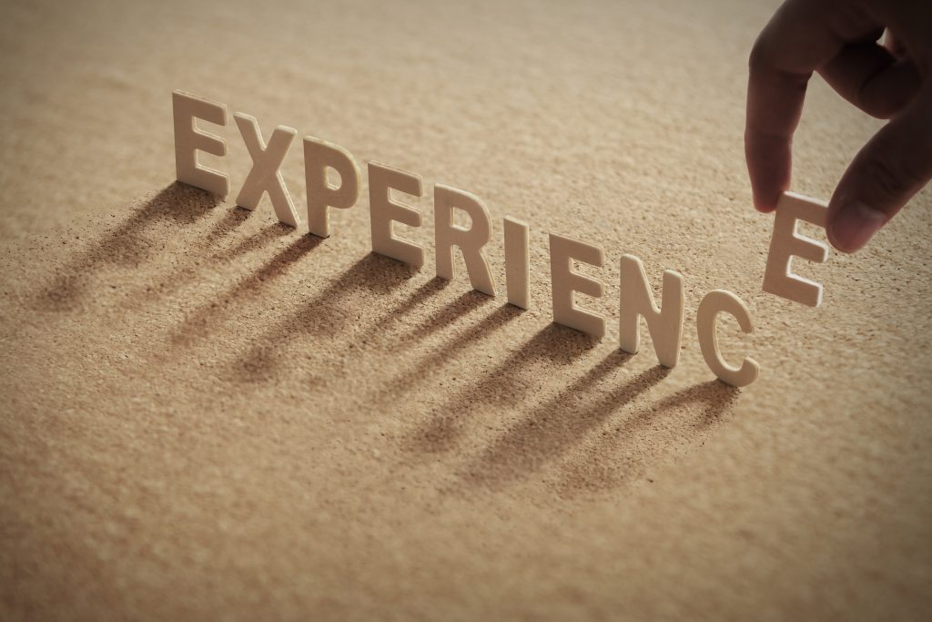 Experience,Wood,Word,On,Compressed,Or,Cork,Board,With,Human's