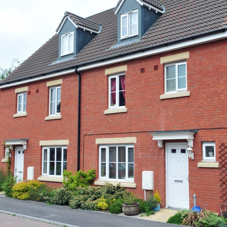 Terraced,Houses,On,A,Typical,English,Residential,Estate